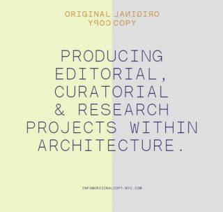 出版:Link-Arc 建筑师事务所与Original Copy 工作室合作进行中