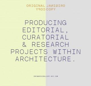 In Progress: Original Copy Publication
